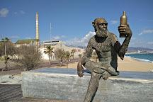 Anis del Mono sculpture, Badalona, Spain