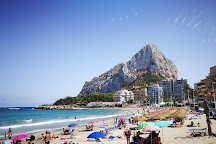 Playa de Levante o la Fossa, Calpe, Spain