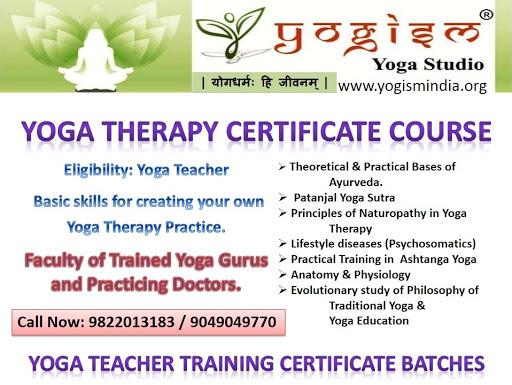 Yoga Teacher Training Certificate Course Yogism Yoga Studio य गधर म ह ज वनम Yoga Instructor Level 1