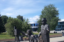 Monument to Lumiere Brothers, Yekaterinburg, Russia