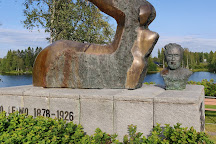 Eino Leino Statue, Paltamo, Finland