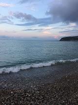 Пляж турбази Приморська Новоміхайловській