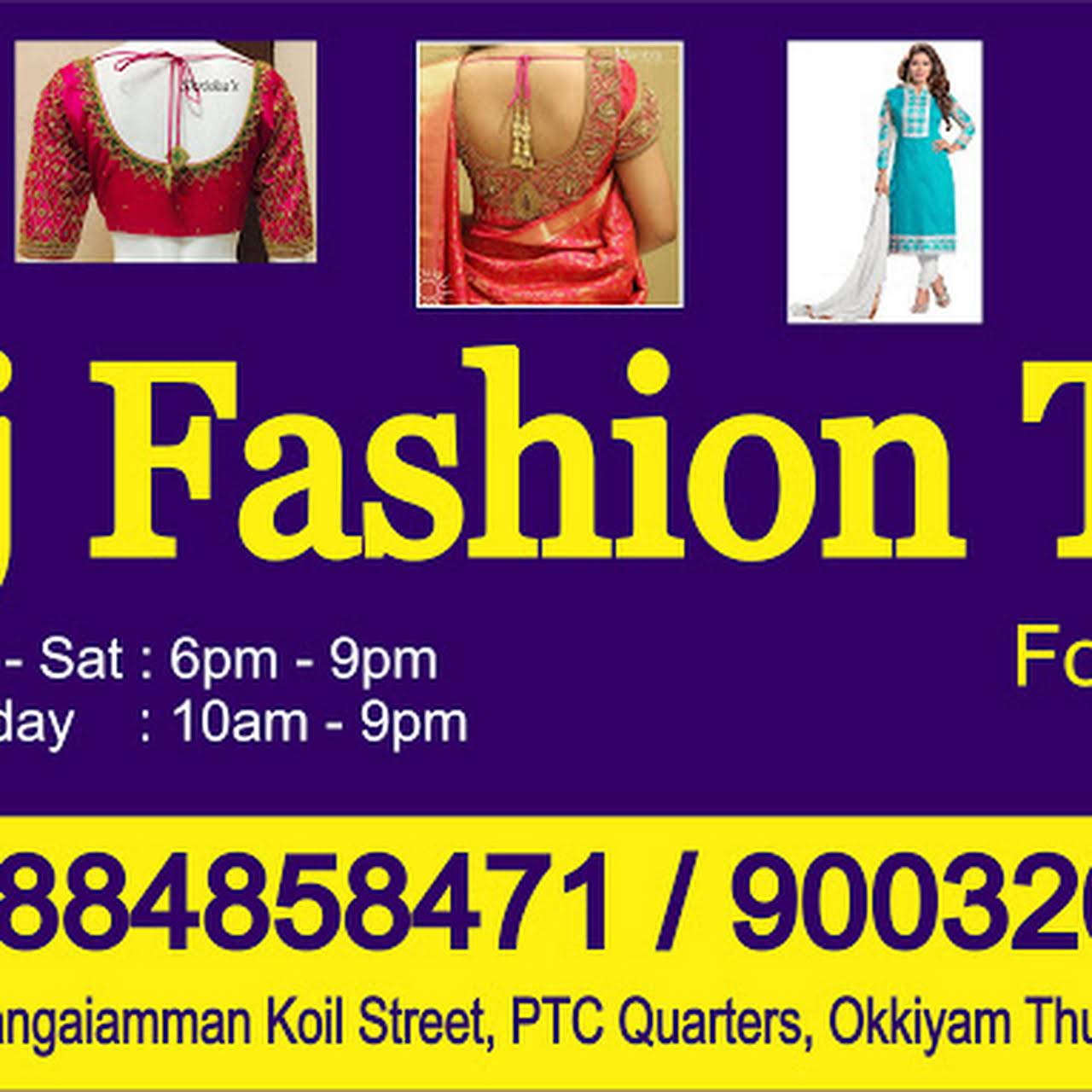 Ladies Tailor In Omr Ptc Raj Fashion Tailoring Embroidery Clothing Alteration Service In Chennai