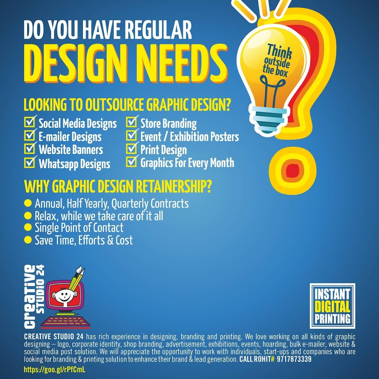 Creative Studio 24 Branding Social Media Website Graphic Designer Monthly Design Services