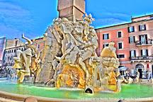 Fontana dei Quattro fiumi, Rome, Italy