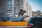 Символ города Энгельс Бык-солевоз на фото Энгельса