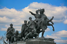 Chapaev monument, Samara, Russia