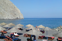 Perissa Black Sand Beach, Perissa, Greece