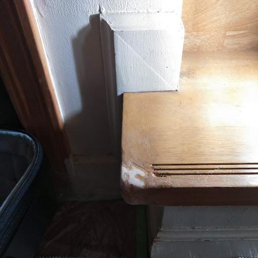 住宅の階段傷の補修に行ってきました