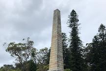 Obelisk of 1870 to mark Captain Cook's Landing Place, Sydney, Australia