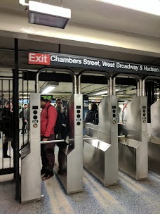 Chambers St Subway Station new-york-city USA
