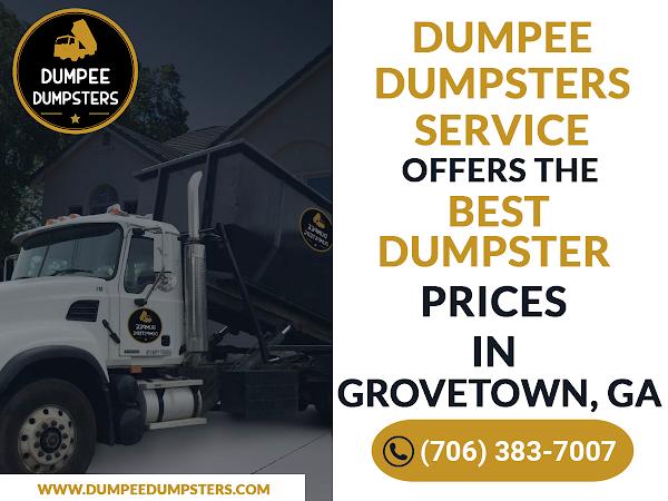 Dumpster Rental Grovetowen GA - Dumpee Dumpsters