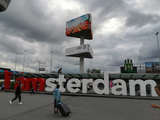 I amsterdam sign schiphol airport
