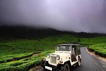 Hill Rider Jeep Safari, Munnar, India