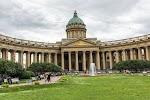 Казанский кафедральный собор, переулок Сергея Тюленина на фото Санкт-Петербурга