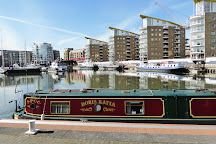 Limehouse Basin Canalside, London, United Kingdom
