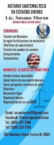 Notario Guatemalteco en Estados Unidos Licda. Susana Moran