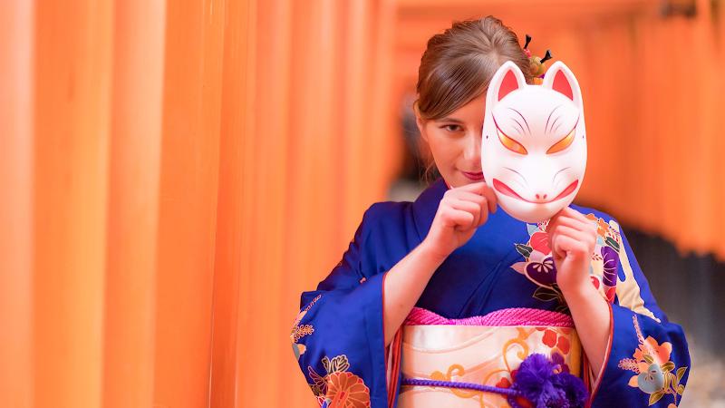 伏見稲荷 着物レンタル 《うるわしき》和服租貸・Kyoto kimono rental・URUWASIKI・麗囍和服屋