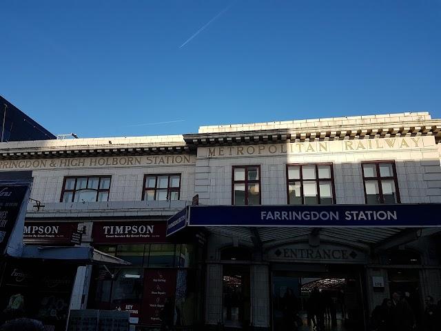 Farringdon London Underground Station