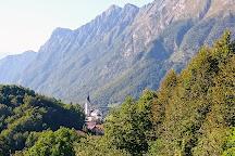 Krampež Waterfall, Kobarid, Slovenia
