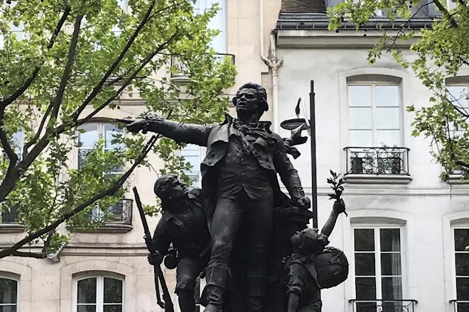 Statue of Danton, Paris, France