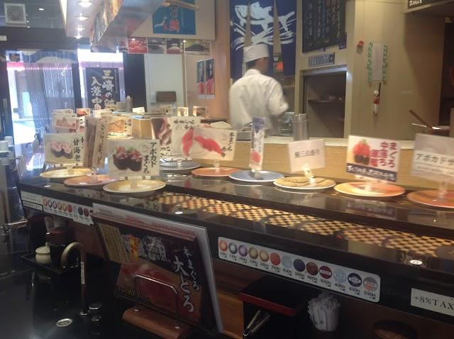 Gourmet conveyor belt sushi Maguro-donya Miura Misaki-kou