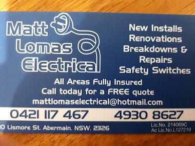 Matt Lomas Electrical