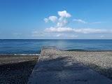 Пляж санатория Южное взморье в Адлере