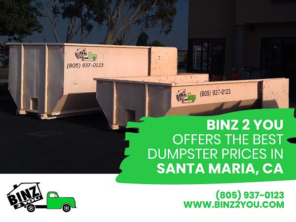 Dumpster Rental Santa Maria, CA - Binz 2 You