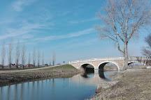 The bridge in Kralova pri Senci, Senec, Slovakia