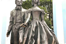 The monument to Alexander Pushkin and Natalia Goncharova, Moscow, Russia