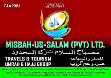 MISBAH-US-SALAM (Pvt.) Ltd. Travels and Tourism, Hajj, Umra and other tour Pckgs karachi