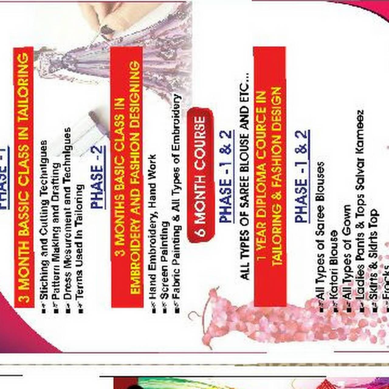 Novo School Of Embroidery And Fashion Designing Fashion Design School In Uppala