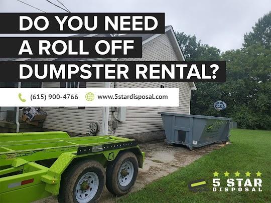 Dumpster Rental Walter Hill, TN - 5 Star Disposal