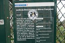 Jardin du Monument aux Meres Francaises, Paris, France