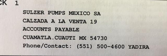 Sulzer Pumps Mexico SA de CV