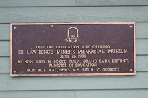 St. Lawrence Miner's Memorial Museum, St. Lawrence, Canada