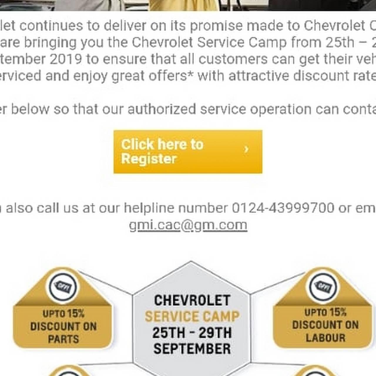 Chevrolet Authorised Dealer Punjab Trading Service Station Open