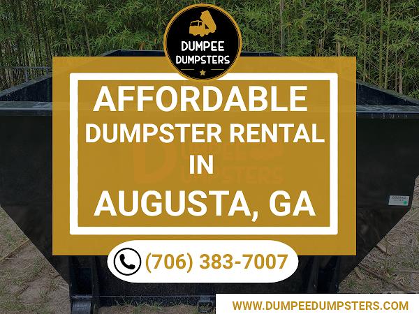 dumpster rental in Augusta GA - Dumpee Dumpsters