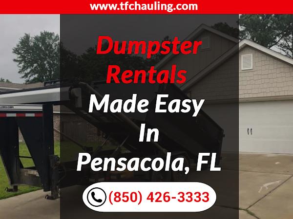 Dumpster Rental Pensacola FL - TFC Hauling