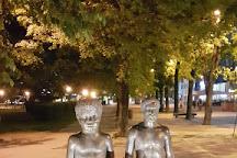 Father and Son Sculpture, Tartu, Estonia