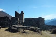 Castel Grumello, Montagna in Valtellina, Italy