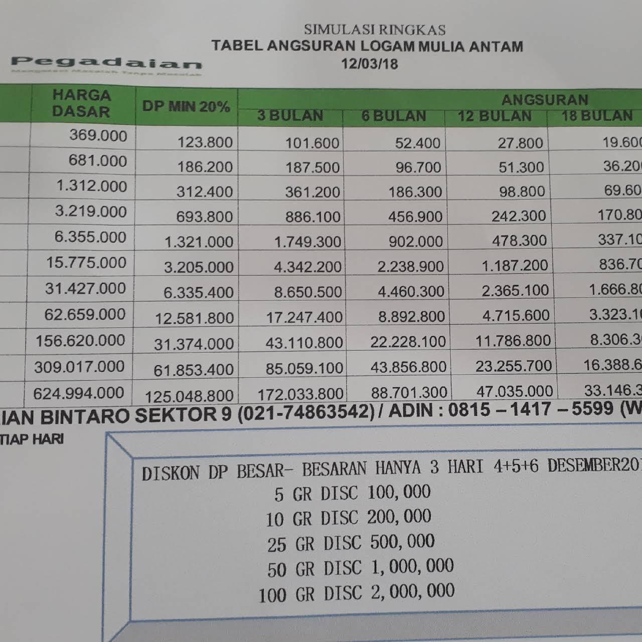 Pegadaian Bintaro Sektor 9 Pawn Shop
