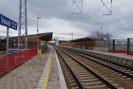 Железнодорожная станция  Veseli Nad Luznici