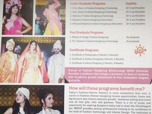 Fashion Designing Mats University Mats School Of Fashion Designing Technology In Raipur Chhattisgarh