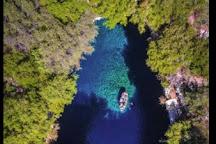 Melissani Cave, Sami, Greece