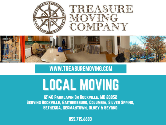Treasure Moving Company 12140 Parklawn Dr Rockville, MD 20852 855-715-6683