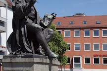 Hans Sachs Platz and Hans Sachs Denkmal, Nuremberg, Germany