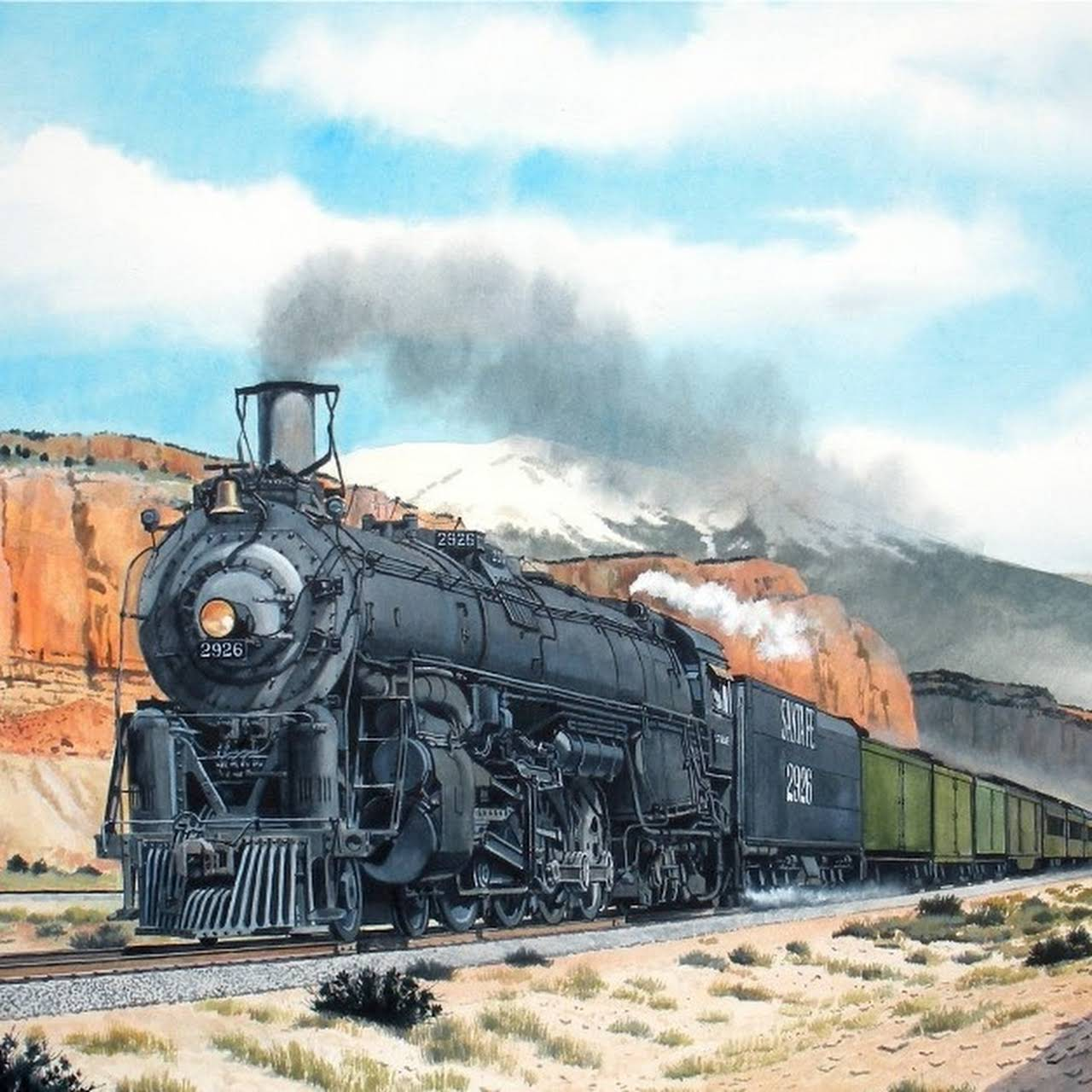 New Mexico Steam Locomotive