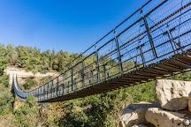 Hanging Bridge at Nesher Park, Haifa, Israel
